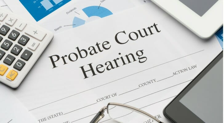Probate court hearing form